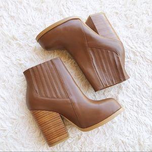 CATHERINE MALANDRINO ✨NWOT✨ Cognac Leather Boots